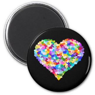 Rainbow Heart Confetti Refrigerator Magnets