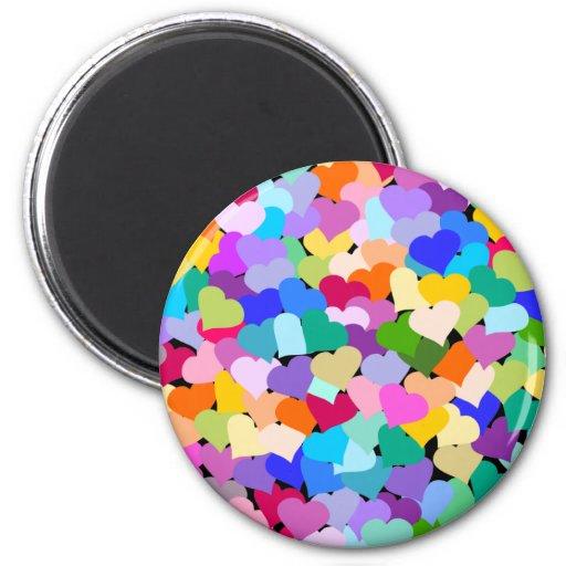 Rainbow Heart Confetti Fridge Magnet