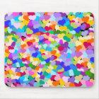 Rainbow Heart Confetti Mouse Mat