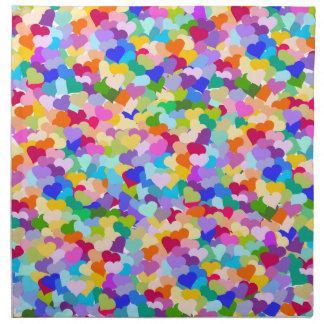 Rainbow Heart Confetti Napkin