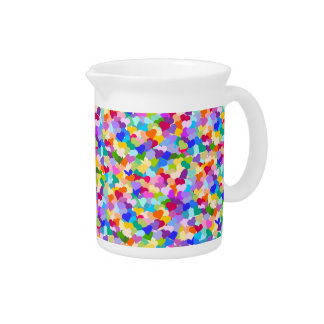Rainbow Heart Confetti Pitcher