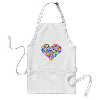 Rainbow Heart Confetti Standard Apron