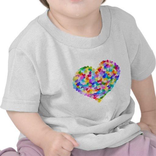 Rainbow Heart Confetti Tees