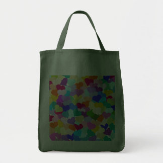 Rainbow Heart Confetti Grocery Tote Bag