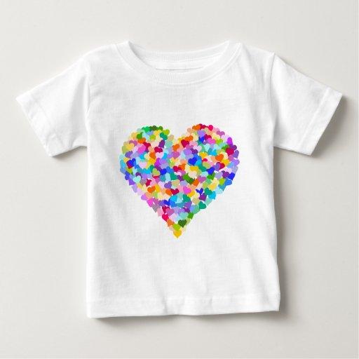 Rainbow Heart Confetti Tshirts