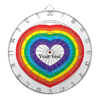 Rainbow heart dartboard