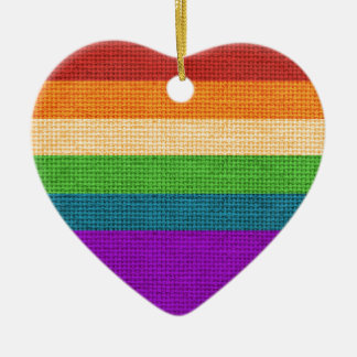 Rainbow Heart Holiday Ornament