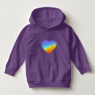 rainbow heart hoodie