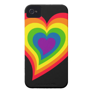 Rainbow Heart iPhone 4 Case-Mate