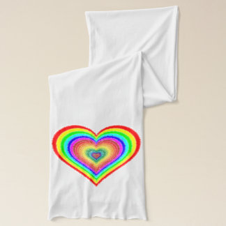 """Rainbow Heart, """"It's Only Love"""" Scarf Wrap"""