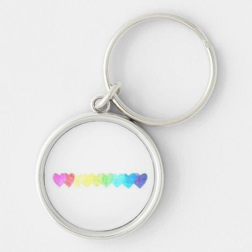 Rainbow Heart Keychain (faded)