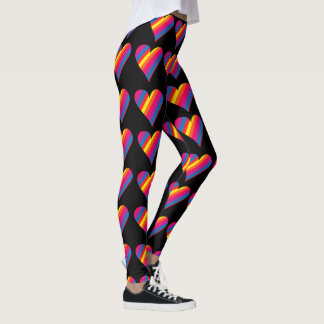 Rainbow Heart Leggings