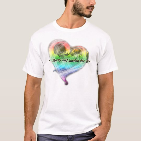 Rainbow Heart Liberty Tshirt