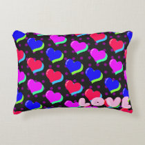 Rainbow Heart Love Decorative Cushion
