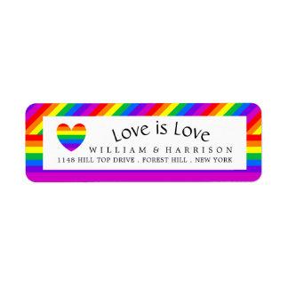 Rainbow Heart Love is Love Wedding