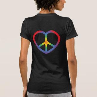 Rainbow Heart, Love, Peace Sign Sweatshirt