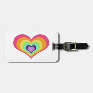 Rainbow Heart Luggage Tag