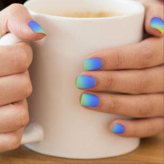 rainbow heart minx nail art