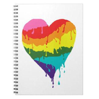 Rainbow Heart Notebook