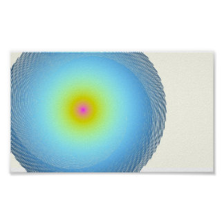 Rainbow Heart of the Nucleus Poster