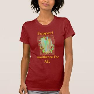 Rainbow Heart on Petals Tshirt