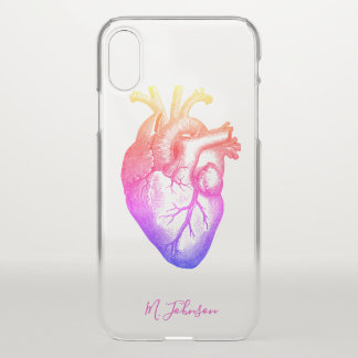Rainbow Heart Personalized iPhone X Case
