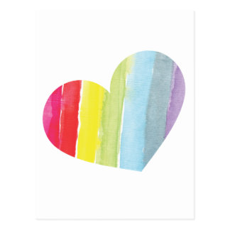 Rainbow Heart Postcard