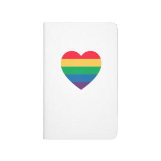 Rainbow Heart Pride Pocket Journal