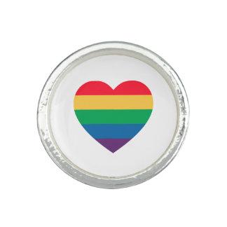 Rainbow Heart Pride Ring