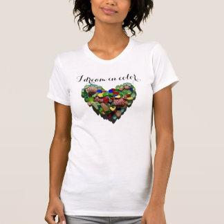 Rainbow heart sea glass, beach glass T-Shirt