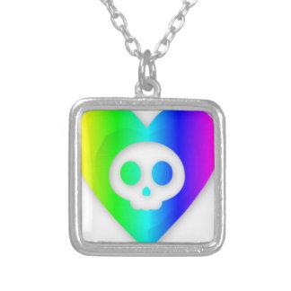 Rainbow Heart Skull Jewelry