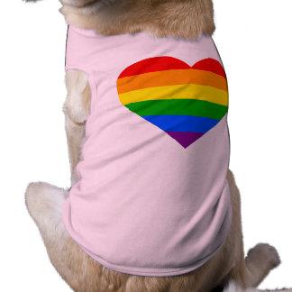 """RAINBOW HEART"" SLEEVELESS DOG SHIRT"