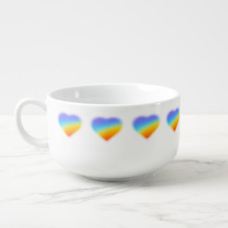 rainbow heart soup bowl