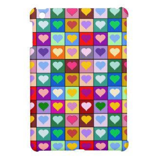 Rainbow heart squares iPad mini covers