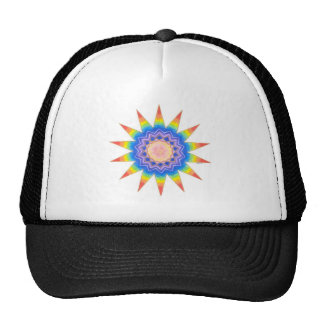 Rainbow Heart Star Cap