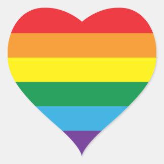 Rainbow Heart Sticker