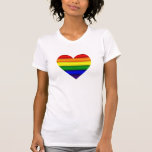 Rainbow Heart Tee-shirt T Shirt