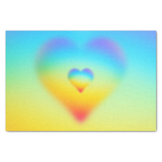 rainbow heart tissue paper