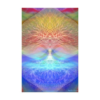 Rainbow Heart Tree of Life Canvas Print