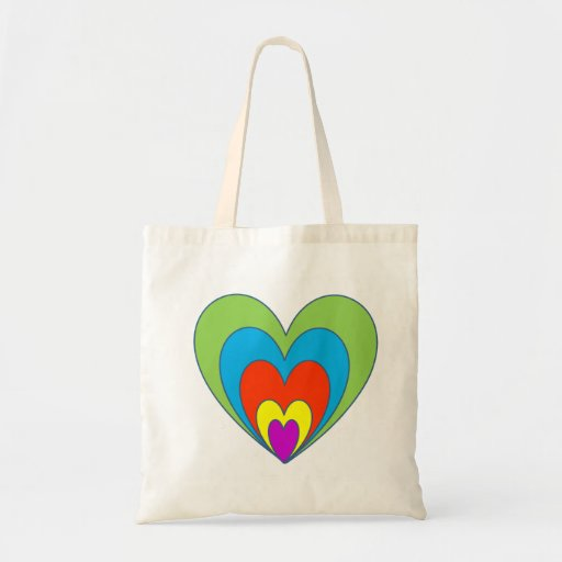 Rainbow Hearts Bag