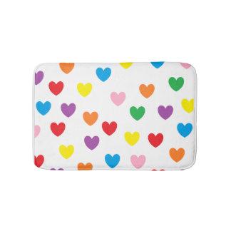 """Rainbow Hearts"" Bath Mat"