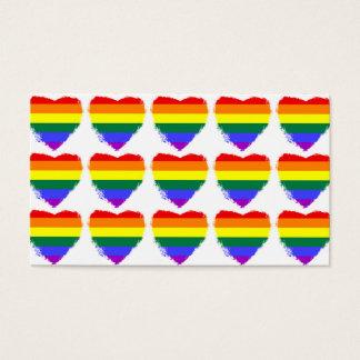 Rainbow hearts business card