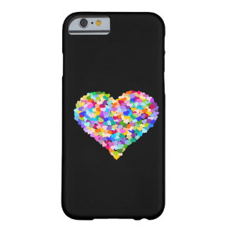 Rainbow Hearts Confetti Barely There iPhone 6 Case