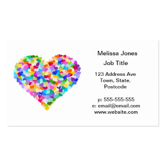 Rainbow Hearts Confetti Business Card