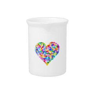 Rainbow Hearts Confetti Pitcher