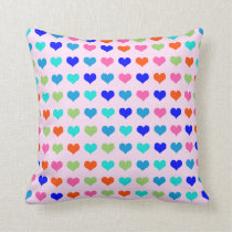 Rainbow Hearts Cushion
