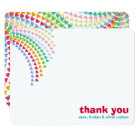 Rainbow Hearts Fun Sprinkle Shower Thank You Card