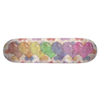 Rainbow Hearts Girls Skatedeck Skateboard Decks