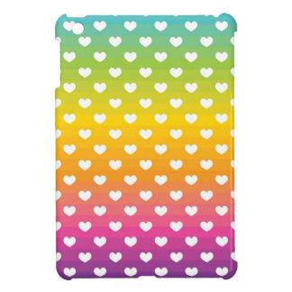 Rainbow Hearts iPad Mini Case