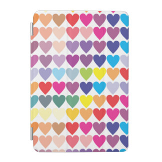 Rainbow Hearts iPad Mini Cover